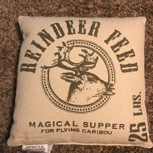 Primitives By Kathy Reindeer Feed Pillow Brand New